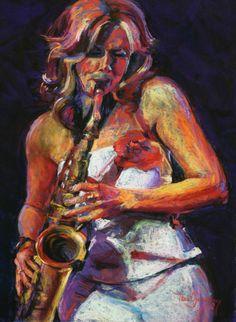Candy Dulfer Jazz Painting, Dance Paintings, Jazz Artists, Music Artists, New Girl, Frida Art, Jazz Poster, Mushroom Art, Art Folder