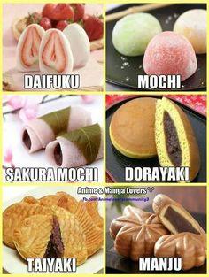 Japanese sweets I've tried Mochi, and Dorayaki 🥰 Japanese Pastries, Japanese Snacks, Japanese Sweets, Japanese Deserts, Japanese Recipes, Japanese Food List, Japanese Buns, Japanese Street Food, Japanese Cake