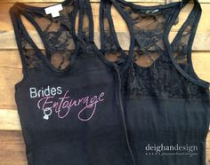 SALE SET OF 5 Bridesmaid Bachelorette Tank Tops by DeighanDesign, $65.00