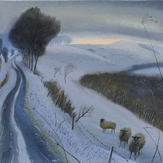 Nicholas Hely Hutchinson (b.1955) — Winter Morning by the Top Road (580x582)
