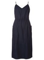 Womens Indigo Midi Cami Denim Dress- Blue