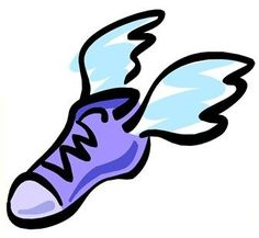 running clipart running shoe with wings clip art 5k pinterest rh pinterest com clip art running shoes free running shoes clipart png