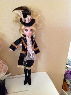 Monster High Repaint. Steampunk Alice by BeaNMeDolls on Etsy, SOLD