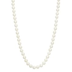 """30"""" 10mm Ivory pearl tone beaded necklace"""
