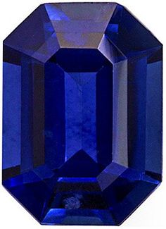 Fabulous Vivid Intense Colored Ceylon Blue Sapphire   Even Color Throughout  Emerald Cut, 1.18 carats