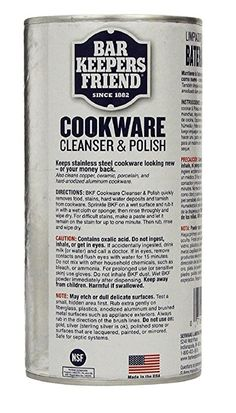 Amazon.com: Bar Keepers Friend COOKWARE Cleanser & Polish Powder - 12 Oz. Each Can - 1-Pack: Home & Kitchen Bar Keepers Friend, Domestic Cleaning, Cookware, Cleanser, Powder, Stains, Polish, Canning, Amazon