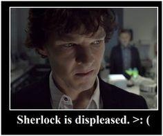 Displeased Sherlock by umbuby