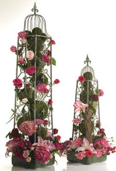 Antique metal topiary great for events and weddings #decor #wedding #events