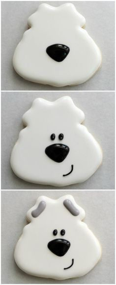 Easy Polar Bear Cookie [using a frog cookie cutter]