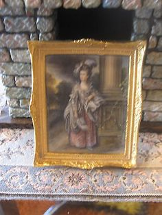 C WHITFORD OIL PAINTING GAINSBOROUGH DOLL HOUSE MINIATURE