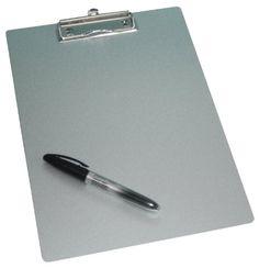 Wedo 057854 Klemmbrett A4 aus Aluminium / Schreibplatte Metall mit abgerundeten Ecken starker Klammer und Aufhängeöse Wedo http://www.amazon.de/dp/B0043PGJTY/ref=cm_sw_r_pi_dp_mNXAub07KBD8F