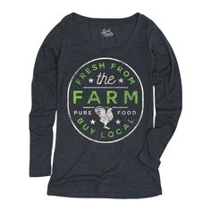 Fresh From The Farm Buy Local Ladies Long Sleeve Tee