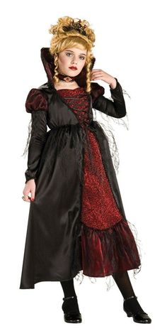 Vampiress Dracula Girl Premium Dress Costume Child