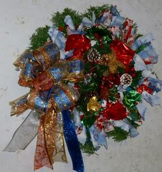 Made Just For You, Christmas Bouquet Christmas Wreath Large, 65 inches around. #$65.00
