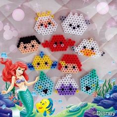 Easy Perler Bead Patterns, Perler Bead Templates, Diy Perler Beads, Perler Bead Art, Hama Beads Disney, Crafts To Do, Bead Crafts, Pearl Beads Pattern, Beaded Bookmarks