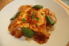 Pan Fried Tofu with Chili Sauce