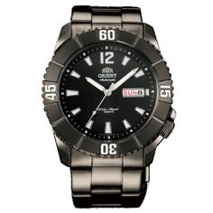Orient EM7D001B Men's Hammerhead Sporty Black Dial Black Ion Plated Stainless Steel Automatic Watch