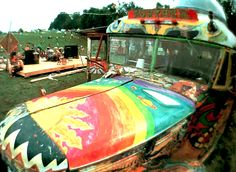 Woodstock Festival - 1969. Further the bus