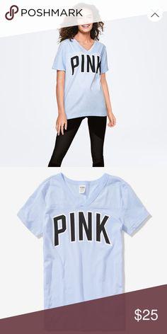 Victoria s Secret · VS PINK CAMPUS FOOTBALL TEE Brand new tags attached VS  PINK CAMPUS FOOTBALL TEE c5a87b691