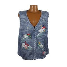 8e3475ab67d Ugly Christmas Sweater Vintage 1980s Tacky Holiday Polar Bears Vest Party  Women s size XXL 2X
