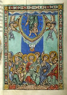 Pentecost and Christ: Ascension | Gospel book | Austria, probably in the monastery of Seitenstetten | between 1225 and 1275 | The Morgan Library & Museum