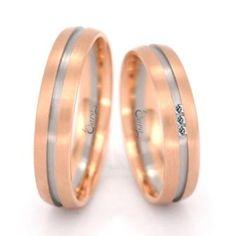 Alianças Bicolores em ouro branco e rosa | Marriage | Dara Jewels