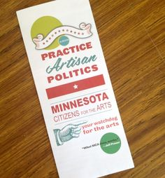 Minnesota Citizens for the Arts Brochure by Elana Schwartzman, via Behance