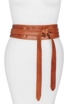I have this belt in black leather and it's amazing. Ada+Leather+Wrap+Belt+available+at+#Nordstrom