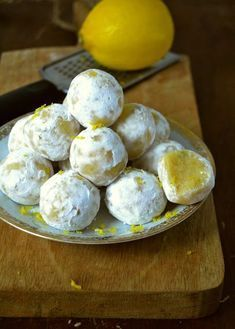 Trufas de leche condensada y limón
