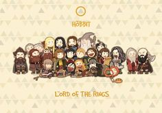 the fellowships by navy-locked on DeviantArt - haha, I think Bilbo and Thorin are the only ones being grumpy, true to their movie incarnations.
