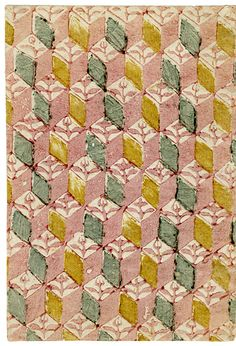 From a collection of Carmencho Arregui, a bookbinder. Decorated paper designed originally for use as book covers and endsheets. Via Letterology.