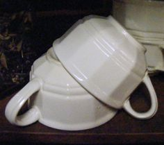 Vintage White Pfaltzgraff Ironstone Coffee by beehindthymemarket, $12.50 'SET OF 3'! ~SOLD