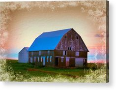 190th Street Barn 2 Acrylic Print by Bonfire #Photography