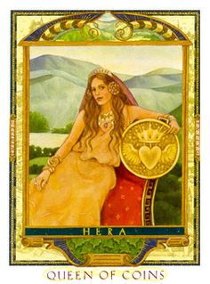 Queen of Coins Tarot Card - Lovers Path Tarot Deck ...Use your penetrating intuition to divine new meanings