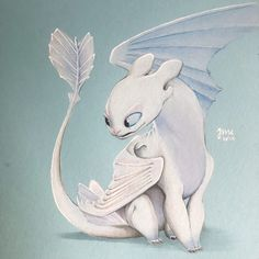 I'm so excited to see so I drew Lightfury 🤩 Has anyone seen it yet? Made with olor pencils. Disney Drawings, Cute Drawings, Animal Drawings, Dragon Crafts, Dragon Art, Deadpool Pikachu, Night Fury Dragon, Baby Animals, Cute Animals