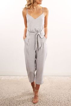 Little Miss Jumpsuit Grey | Women's | Jean Jail | Clothes Online | Shoes | Womens Fashion | Mens Fashion