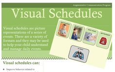 Great handout on visual schedules from Boston Children's Hospital ::to share with parents:: Speech Language Pathology, Speech And Language, Therapy Activities, Therapy Ideas, Occupational Therapy, Speech Therapy, Autism Crafts, School Ot, Visual Aids