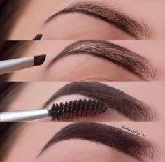 - Make up tipps - Maquillaje Highlighter Makeup, Contour Makeup, Makeup Set, Skin Makeup, Makeup Inspo, Eyeshadow Makeup, Makeup Brushes, Makeup Looks, Makeup Eyebrows
