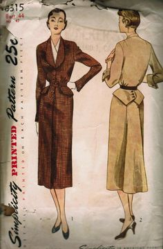 Simplicity 3315 dickey, jacket, & skirt