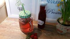 Sirup - Pimp your drink! - Himbeer-Sirup mit Thymian  - ein Designerstück von Kraeuterkoerbchen bei DaWanda Pimp Your Drink, Kraut, Gin, Mason Jars, Etsy, Drinks, Syrup, Raspberries, Glass Jars