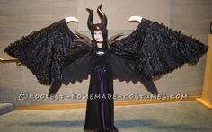 Magnificent Maleficent Costume with Retracable Wings... Coolest Halloween Costume Contest