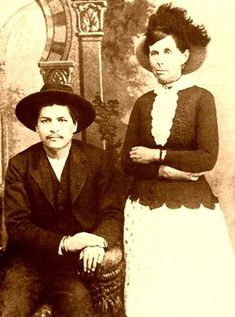 Sam Starr was a lanky Cherokee who made an honest woman of Belle by marrying her forthwith & settling down on his 62 acres on the north side of the Canadian River. They formed a new outlaw gang, rustling horses & bootlegging whiskey to Indians. She learned to use both her newfound money & her feminine wiles to free captured gang members from the clutches of lawmen. From1875 to 1880, Belle was the undisputed leader of this band in the Oklahoma Territory.