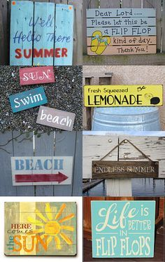 summer pallet signs - Google Search