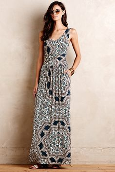 Jantina Maxi Dress #anthropologie I bought this dress recently and I love the cut, style & color of this