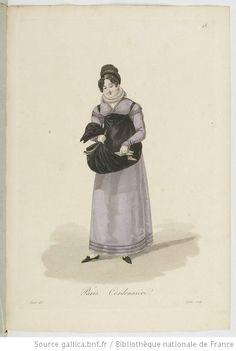 Cordonnière from Georges-Jacques Gatine, Costumes d'ouvrières parisiennes, 1824, BNF Paris