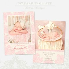 birth announcement photoshop template #birth announcement template ...
