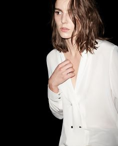 Double-breasted silk shirt - Shirts - Sale Women - The Kooples