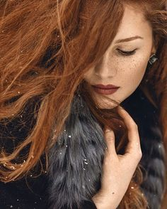 Credit to @ninamasic : #snowflakes #winter #portrait #portraitphotography #photography #photographylovers #beautiful #gingerhair #redhead #redhair #freckles #longhair #closeup #beauty  #outdoorportrait #artphotography #naturalhair #naturalbeauty #face Model: Nejla H. . __________________________________ Author's portfolio #ef❤ninamasic VISIT THE AUTHOR'S PAGE.  Photostream #endlessfaces Published #endlessfaces_2017_01 #_ef_
