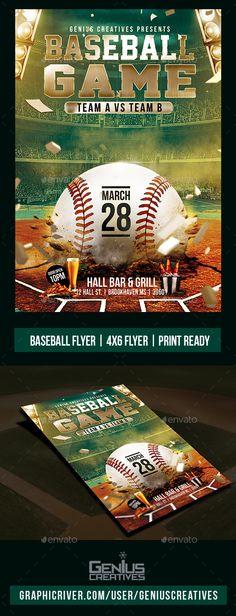 American Football Flyer American football, Flyer template and - baseball flyer