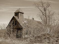 Old school house, Iowa.